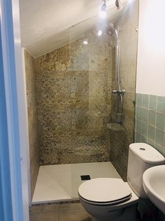 Newly refurbished shower area upstairs