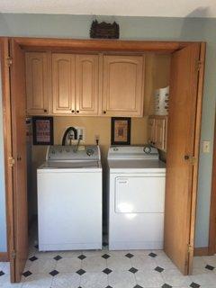 Washer/dryer in kitchen