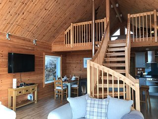 View from living area to mezzanine