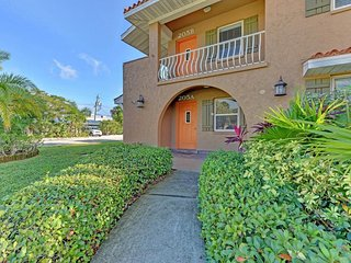 Dog-friendly and ground-level condo with a shared heated pool!