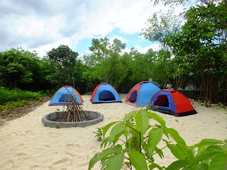 Camping bring your Tent to White Sand Coral Beach