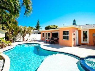Dog-friendly seaside home with private pool & hot tub, great location near beach