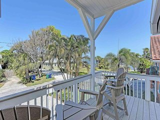 Fun, waterfront home w/ private pool & hot tub - walk to the beach - dogs OK!