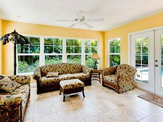 Charming house with private heated pool, patio, and grill - steps from beach