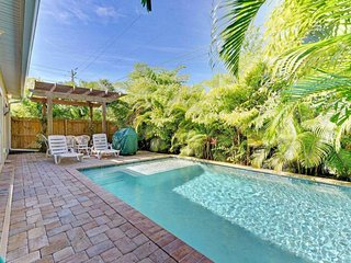 Beautiful dog-friendly duplex w/ private pool - two blocks to the beach!