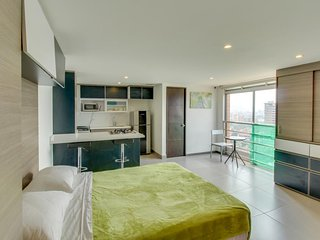 Apto. con vista a la ciudad,se admiten perros- Apt. with city view, dog friendly