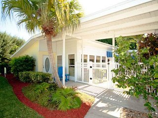 Dog-friendly house w/ private pool, hot tub & entertainment - walk to the beach!