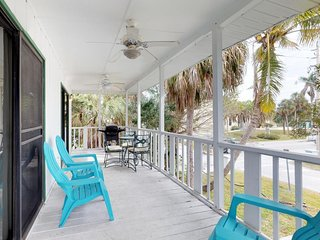 Dog-friendly condo w/ beautiful upstairs deck and grill, steps from the beach