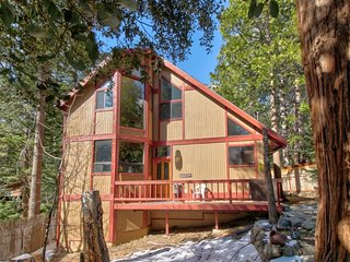 Spacious, dog-friendly cabin w/ private hot tub plus creek & mountain views