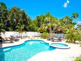 Canalfront home w/ pool, dock & lanai - 2 blocks to the beach, dogs OK!