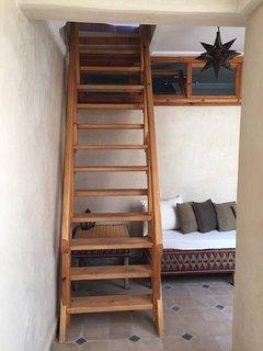 escalier accès à la terrasse