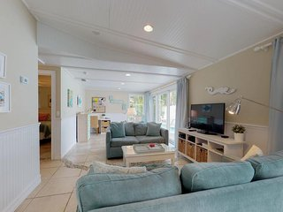 Dog-friendly home w/ private pool, deck, & great location near the beach