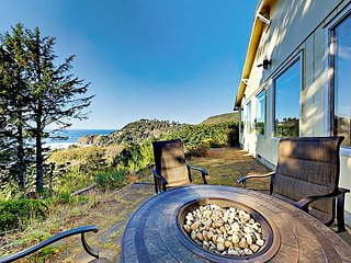 Updated 2BR Zen Getaway w/ Fire Pit, Stunning Beach Views & Ultimate Privacy