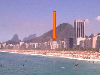 Apto 2 quartos na Praia de Copacabana, Amplo (140 mt), Seguro, Linda vista !