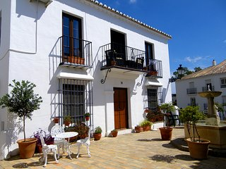 Mijas Pueblo holiday home on pretty pueblo with pool.