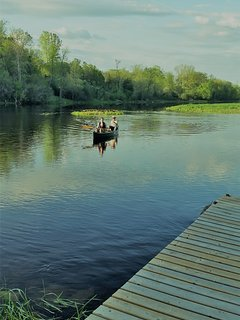 Explore the river by canoe right from our backyard dock.