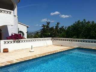 Beautiful Upstairs Apartment Villa Views with Private Pool. gardens and BBQ