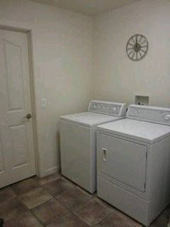 Large separate Laundry Room - washer and dryer