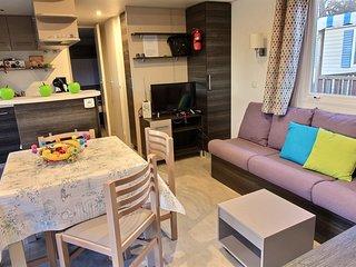 Ref.LP4 ★ Mobil home gamme luxe  6/8p dans un camping 4*