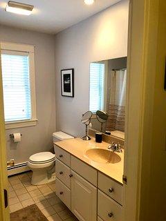Full shared bathroom.
