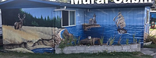 Mural cabin on the coast.