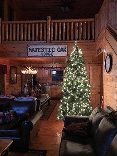 Silent night, peaceful & festive during the Christmas season