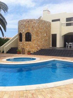 Private garden with 2 beautiful pools and a view of Casa Magarida