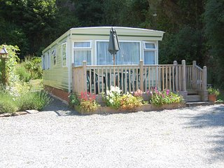 Caravan in pretty woodland setting near Looe sleeps 6