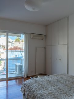 Double bedroom with view of Plaka