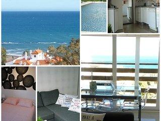 Naciones BenAlma: MIRADOR AL MEDITERRANEO. Luminoso, playa a 200m.3piscinas.WiFi