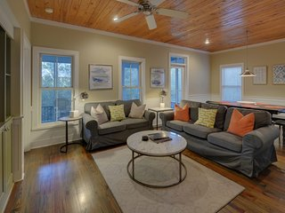 Home near Beach w/ Free WiFi, Flatscreen TV, Private Porch & Communal Pool