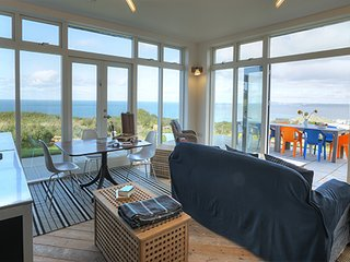 Treleigh luxury sea view retreat with swimming pools and home cinema room