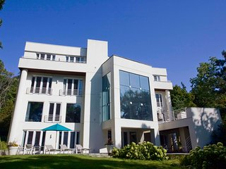 On Lake Geneva! 4-story Contemporary Lake Home Estate. Experience Lake Living!