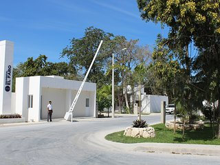Radiante casita vacacional/Puerto Morelos, Riviera Maya