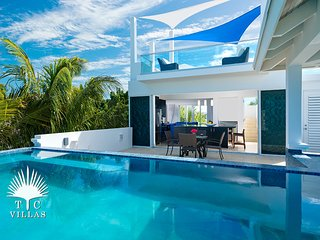 Wild Cherry Luxury 2BR Beachfront Villa on Grace Bay with Great Snorkeling