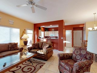 Dog-friendly condo w/ private patio, shared pool/hot tub & onsite golf course!