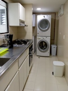 Kitchen, laundry area