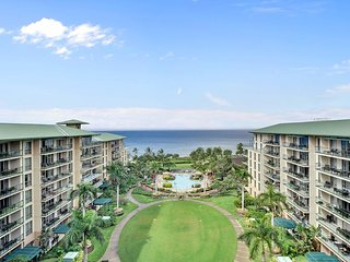 Waterfront condo with views from the lanai, access to beach, pools, hot tubs