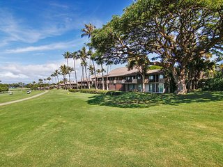 Sparkling studio with golf course and ocean views plus resort pool!