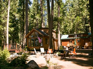 Stay at the HB Ranch. Two Cabins sleeping 6 each.