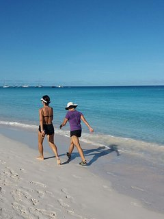 Exercising on a pristine Caribbean beach has to be one of life's greatest pleasures