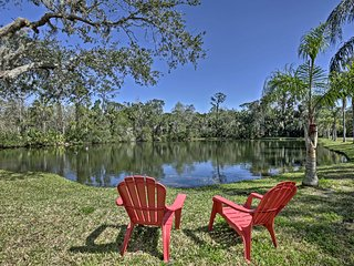 NEW! Port Orange Studio on 3+ Acres w/Fishing Pond