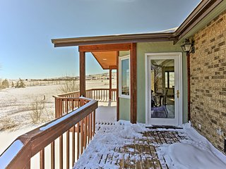 Enjoy views of rolling prairies and rocky Black Hills plateaus.