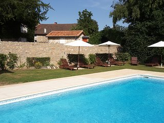 The pool has easy access by steps, has loungers and parasols, pool-side and under-water lights.