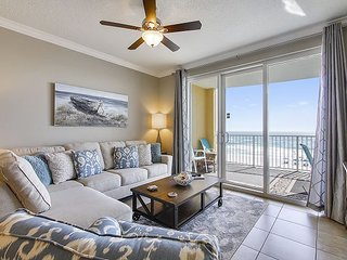 This Gulf front SANITARY condo with easy beach access & shared pool/hot tub!