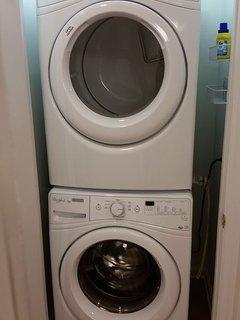 Rub a dub tub! Full size NEW HE washer & dryer!