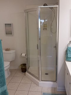 An awesome hot shower is waiting after that round of golf!