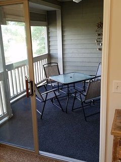 Very private screened in porch dining off master bedroom.