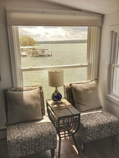View south from living room. You can't get any closer to the water than this cottage! ©2017