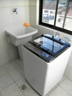 Washing room and washing machine.